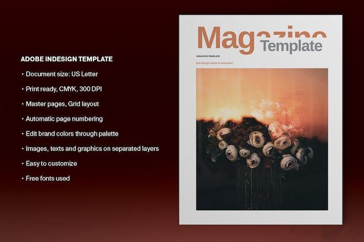 Thumbnail for Orange Magazine Template