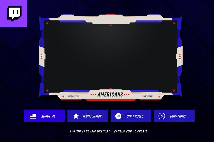Thumbnail for Twitch Facecam Overlay V10