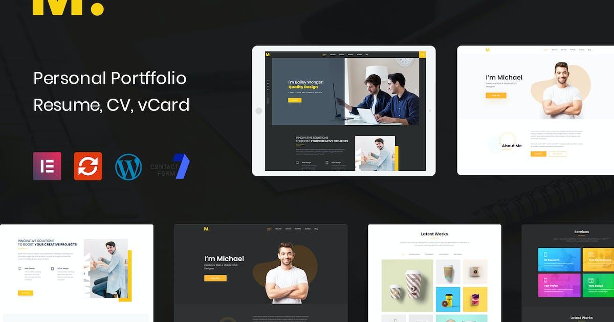 Download Mak - Personal Portfolio & Resume WordPress Theme by DroitThemes