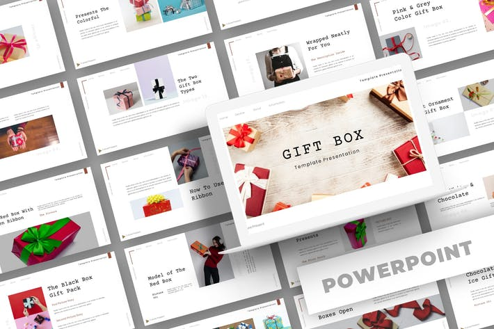 Gift Box - Powerpoint Template