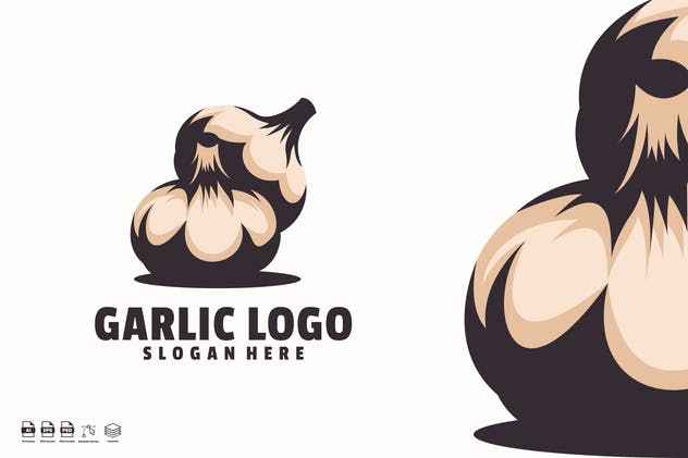 garlic logo template