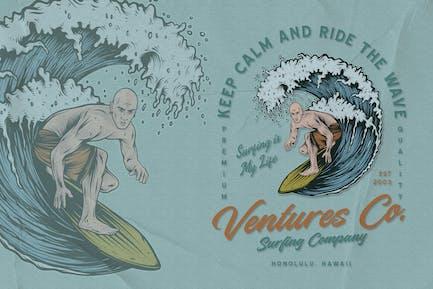 Surfer - Surfing Badge