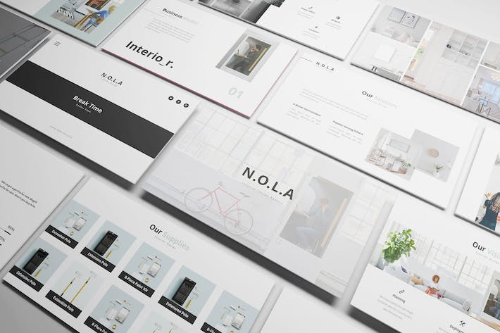 Cover Image For Nola Interior Design Powerpoint Template