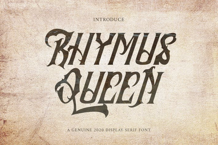 Thumbnail for Rhymus Queen - Letra negra gótica VW
