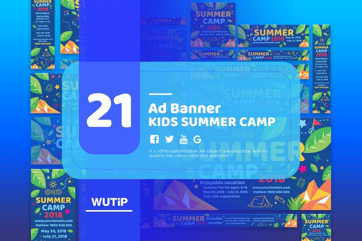 21 ad banner kids summer camp by wutip on envato elements