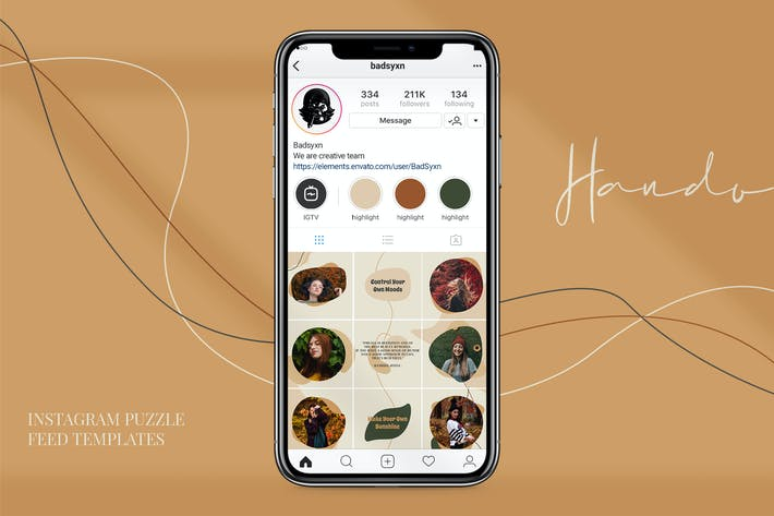 Thumbnail for Hando Puzzle Instagram Templates