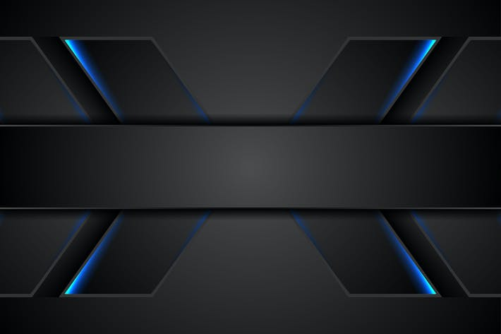 Thumbnail for Abstract black tech background