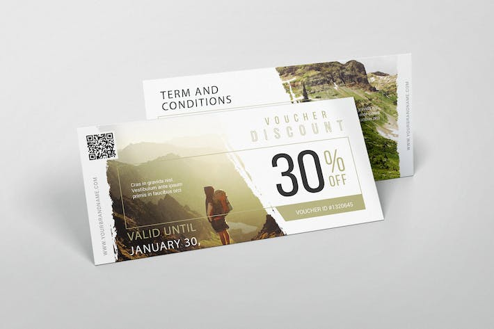 Cover Image For Adventure Travel AI and PSD Gift Voucher