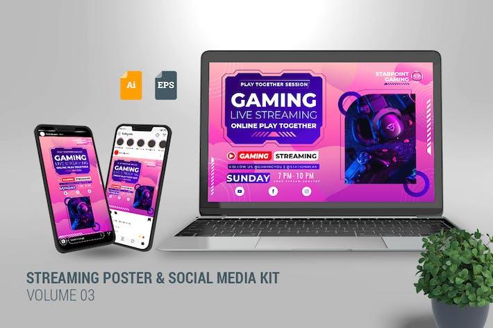 Thumbnail for Streaming Poster & Social Media Kit Vol. 03