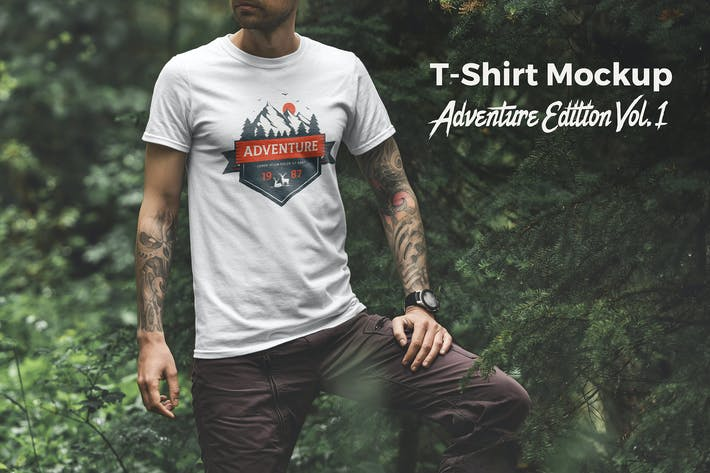 T-Shirt Mockup Adventure  Edition Vol. 1