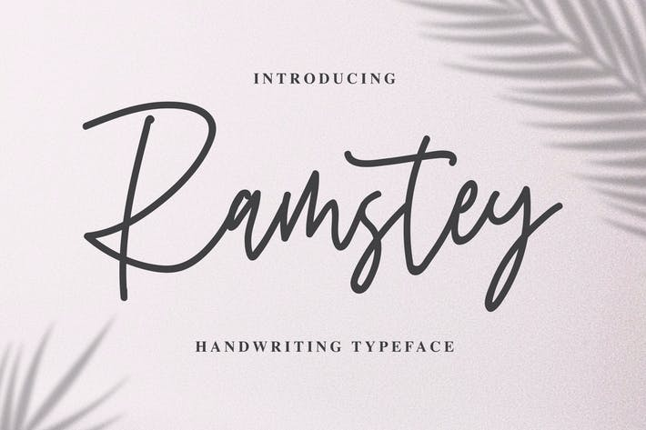 Thumbnail for Ramstey - Handwritting Typeface
