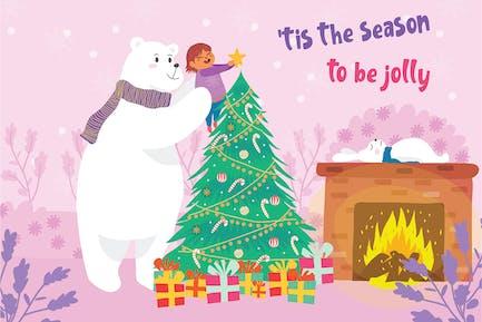Polar Bear - Vector Illustration