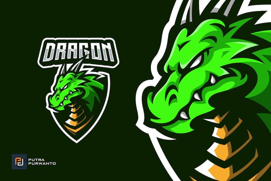 Dragon Mascot Esport Gaming Logo