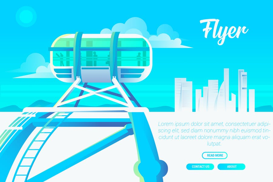 Flyer - Vector Landscape & Building