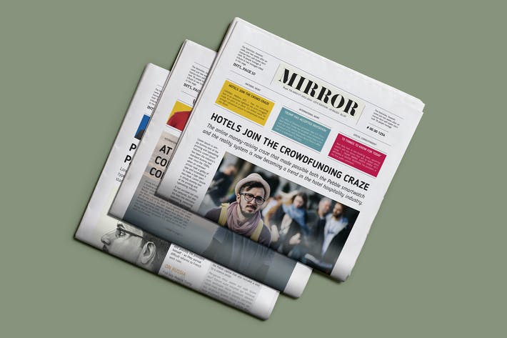 Thumbnail for Mirror NewsPaper Template
