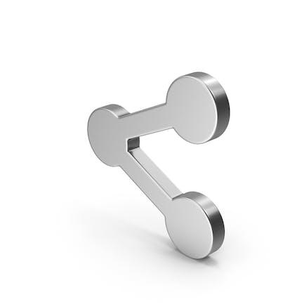 Symbol Share Button Silver