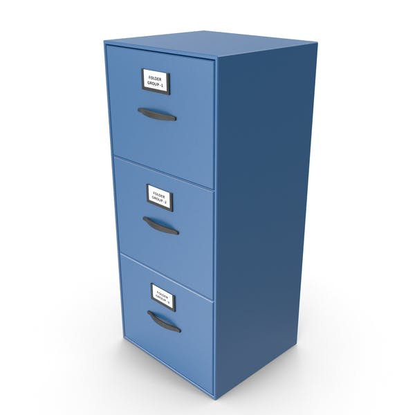 Filing Cabinet Drawer Blue
