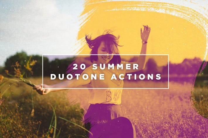 Thumbnail for 20 Acciones de Photoshop Duotone de verano