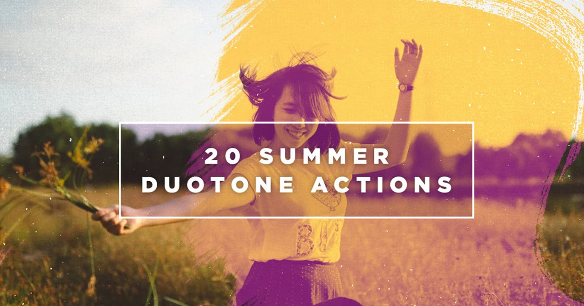 20 Summer Duotone Photoshop Actions by Layerform