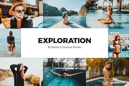 20 Exploration Lightroom Presets & LUTs