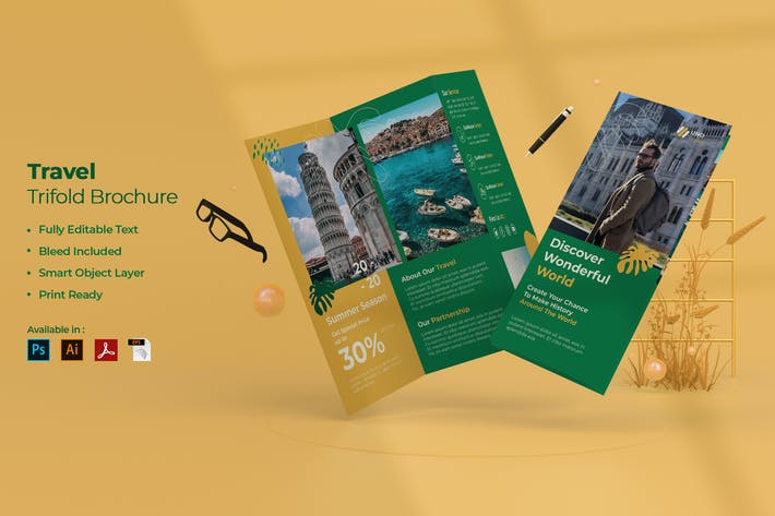 Thumbnail for Travel Trifold Brochure