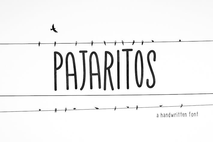 Thumbnail for Pajaritos Handwritten Font