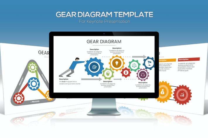 Thumbnail for Gear Diagram Keynote Template