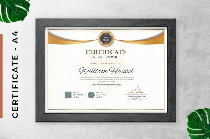 White Elegant Certificate / Diploma Template