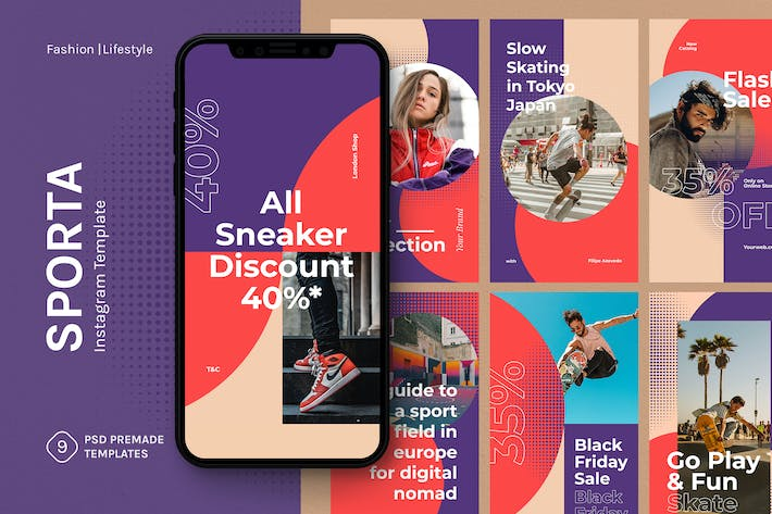 Thumbnail for Sporta - Instagram Stories Template