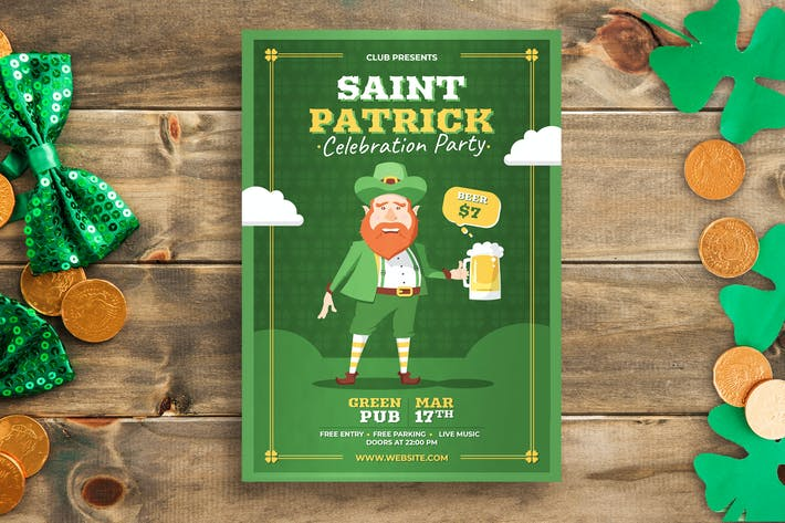 Thumbnail for Saint Patrick's Day Flyer Template