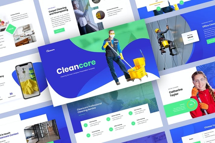 Thumbnail for Cleaning Service Keynote Presentation