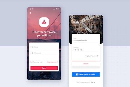 Login Forms UI Mobile Template