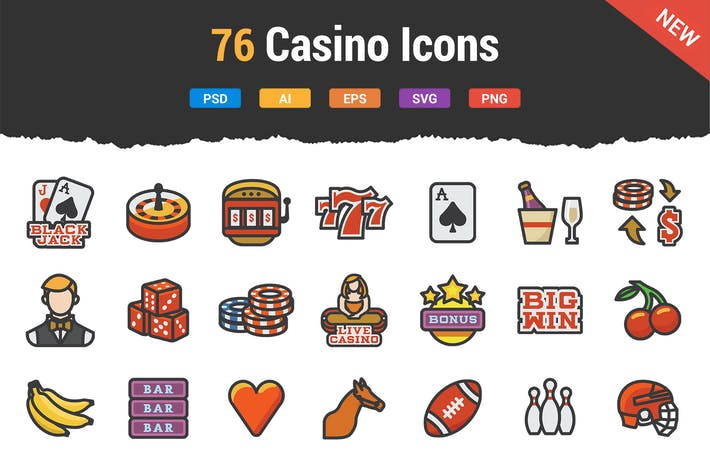 Thumbnail for 76 Casino Icons