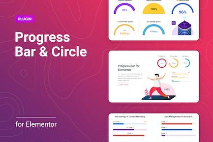 Progress Bar and Progress Circle for Elementor