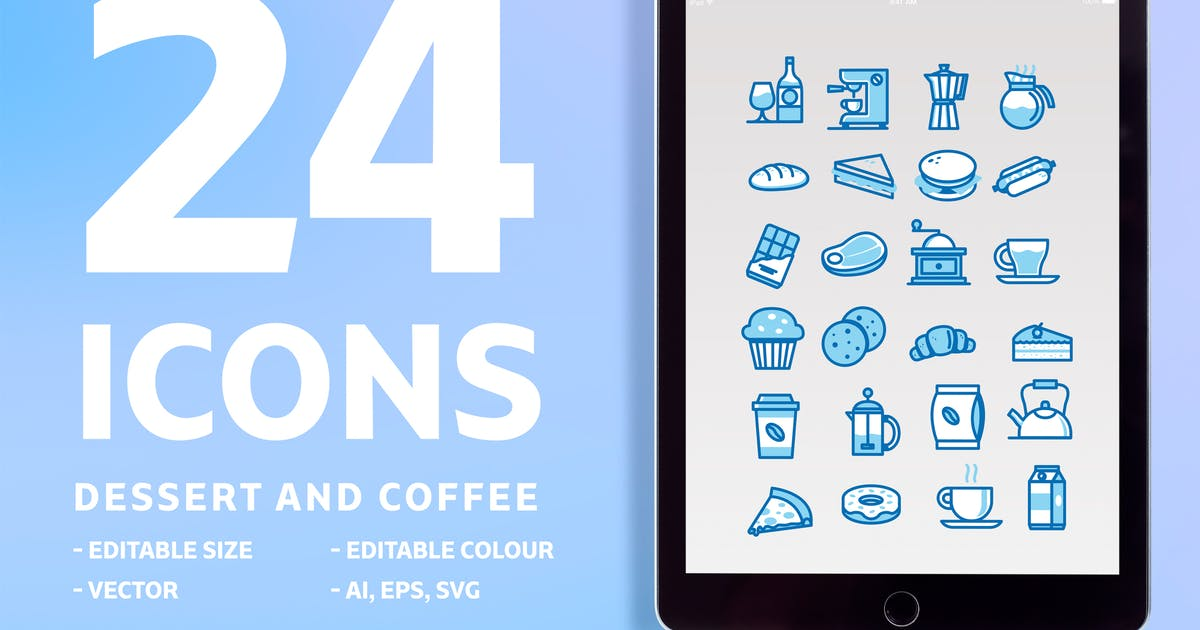 24 Icons Dessert and Coffee by maghrib