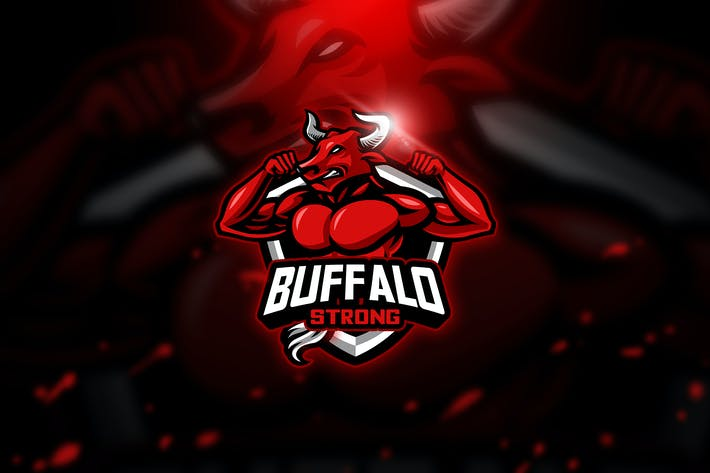 Thumbnail for Buffalo 2 - Mascot & Esport Logo
