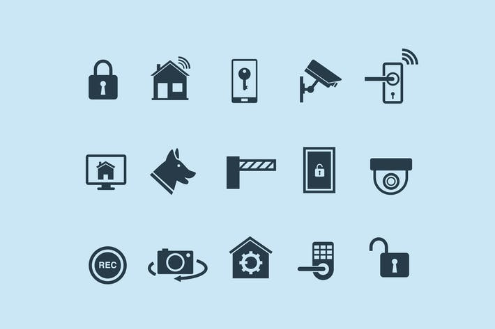 Thumbnail for 15 Home Security & Automation Icons