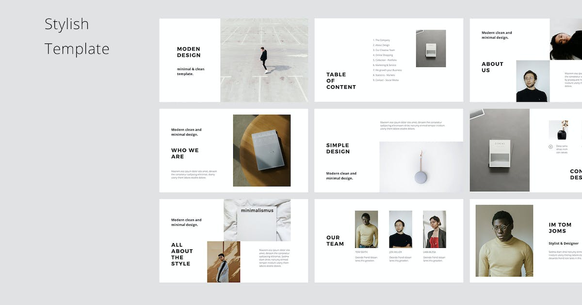 Download MODEN - Powerpoint Style Template by Pixasquare