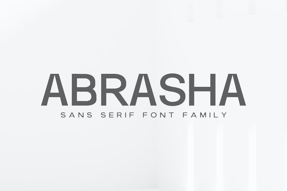 Download Abrasha Sans Serif Font Family by creativetacos