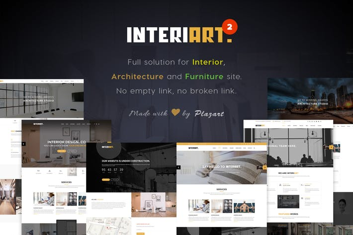 Thumbnail for InteriArt - Furniture & Interior WordPress Theme