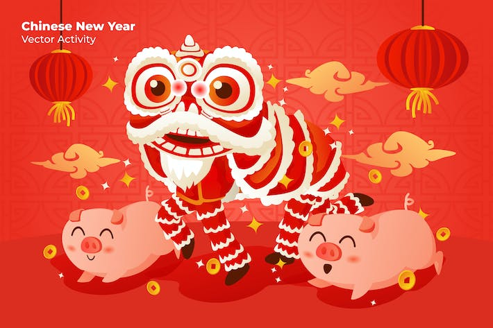 Chinese New Year - Vector Illustration