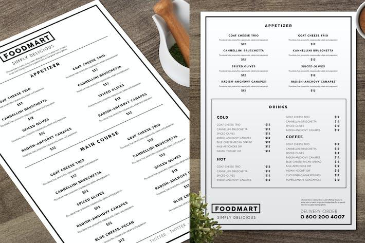 simple restaurant menu by aarleykaiven on envato elements