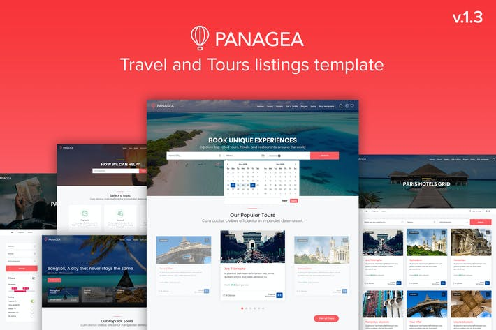 Thumbnail for Panagea - Travel and Tours listings template