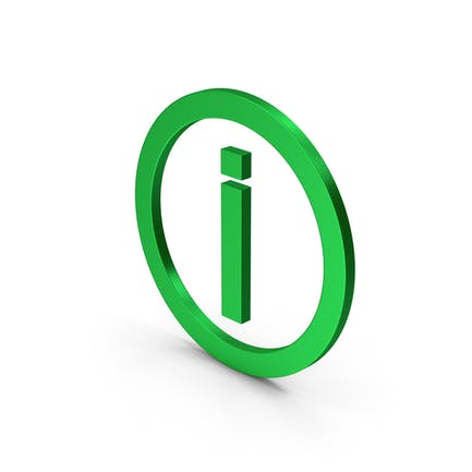 Inverted Exclamation Mark Green Metallic