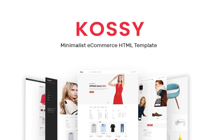 Thumbnail for Kossy - Minimalist eCommerce HTML Template