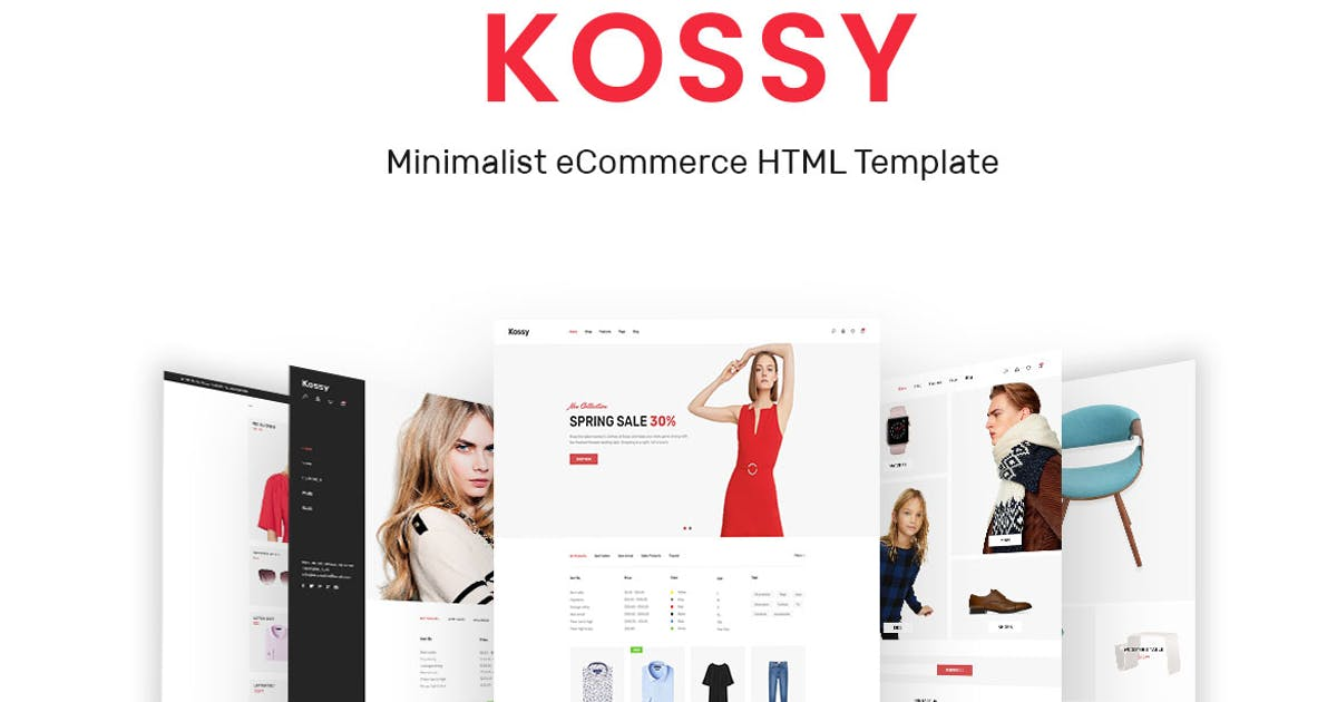 Download Kossy - Minimalist eCommerce HTML Template by ApusWP