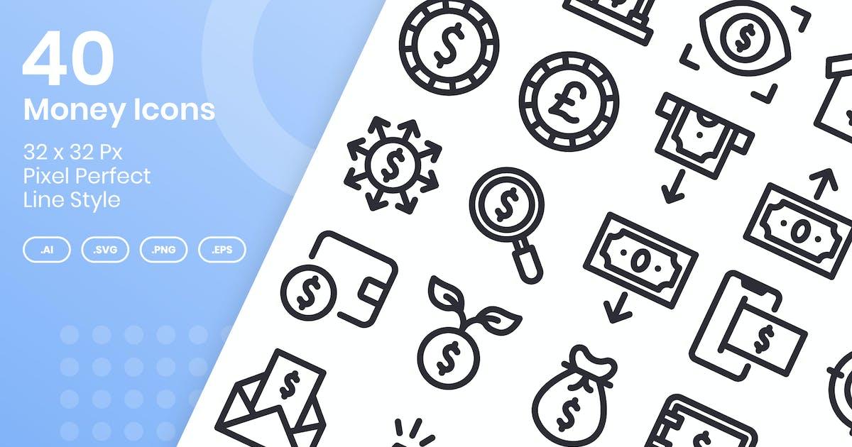 Download 40 Money Icons Set - Line by kmgdesignid