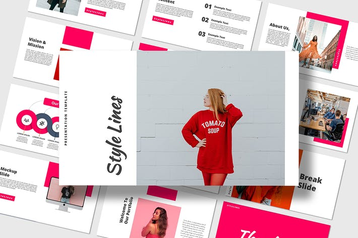 Thumbnail for Style lines - Powerpoint Template