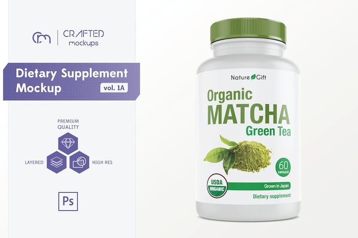 Cover Image For Dietary Supplement Mockup v. 1A
