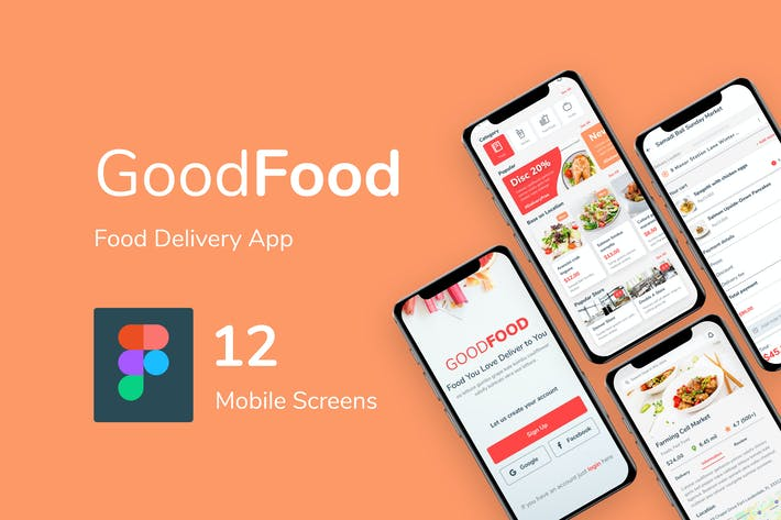 Thumbnail for Good Food - Food Delivery Mobile App UI Kit Figma